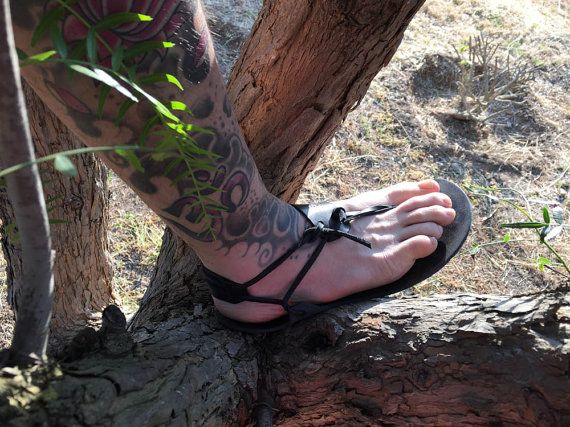 Men Barefoot Sandal 100% Natural Genuine All Leather