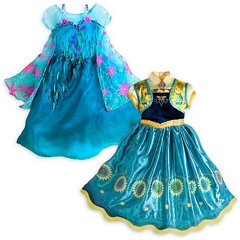 Ensemble de 2 robes de d guisement pour enfants la reine - Robe reine des glaces ...