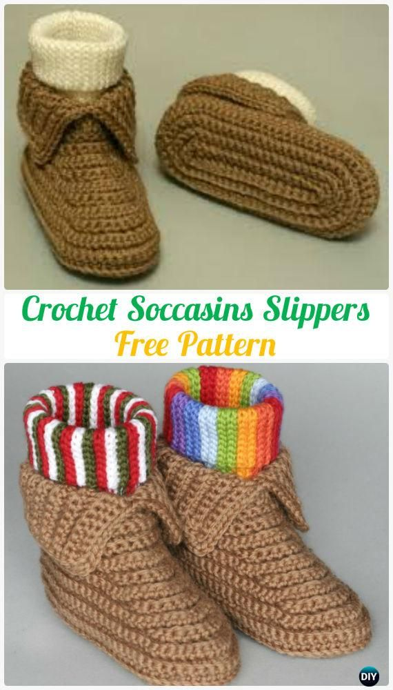 Crochet Men Slippers Shoes Free Patterns | Tejido, Zapatos tejidos y ...