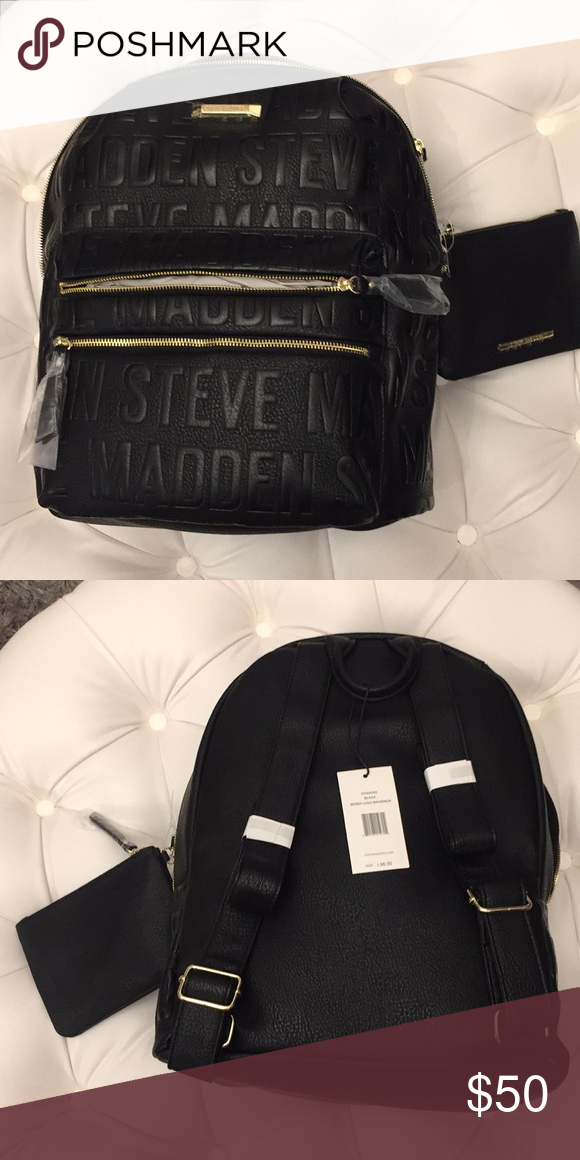 4f6e9e32f7ca New with tags Steve Madden backpack Black and gold backpack Steve Madden  Bags Backpacks