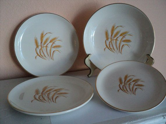 Homer Laughlin 1950s Golden Wheat Dishes 22K Gold Trim by CapeCats & Homer Laughlin 1950s Golden Wheat Dishes 22K Gold Trim Duz ...