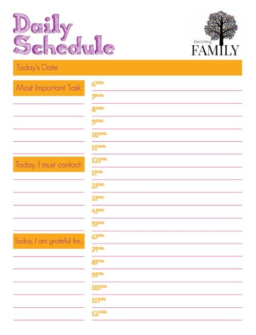 daily schedule printable printables pinterest schedule daily