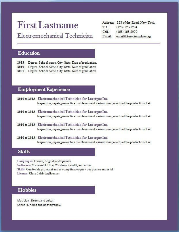 download free resume sample Accounting Resume Example \u2013 Free CV - Cv Example