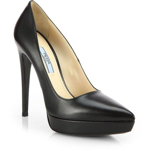 Prada Leather Platform Pumps free shipping shopping online with credit card cheap online b2IqueCf