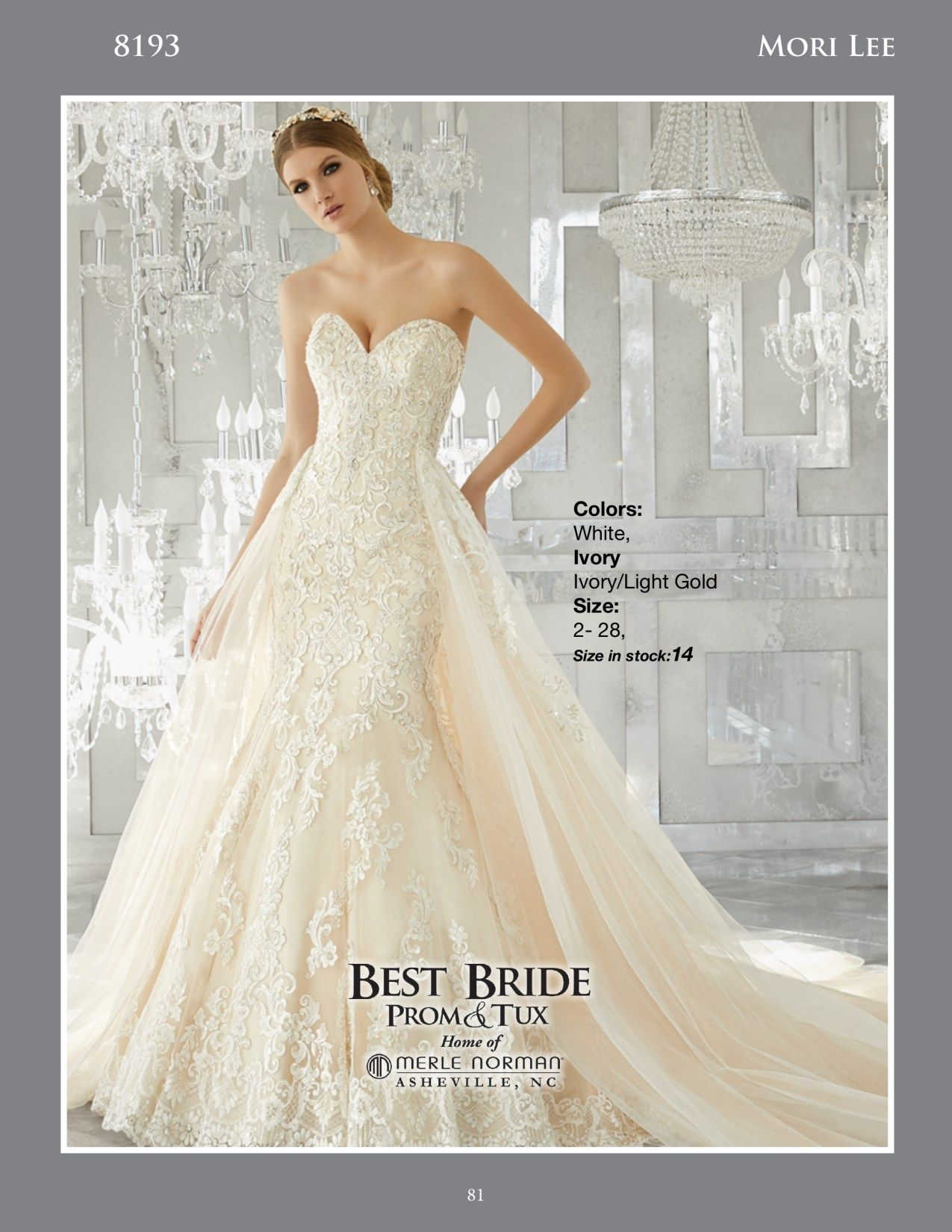 Mori lee gold wedding dress  Breathtaking and Timeless This Stunning Fit and Flare Wedding Gown