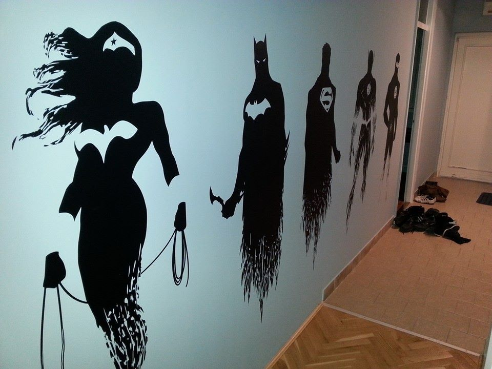 Damn Damn, I Want This On My Home Wall Heroes On The Wall :). Superhero Wall  ArtBatman ...