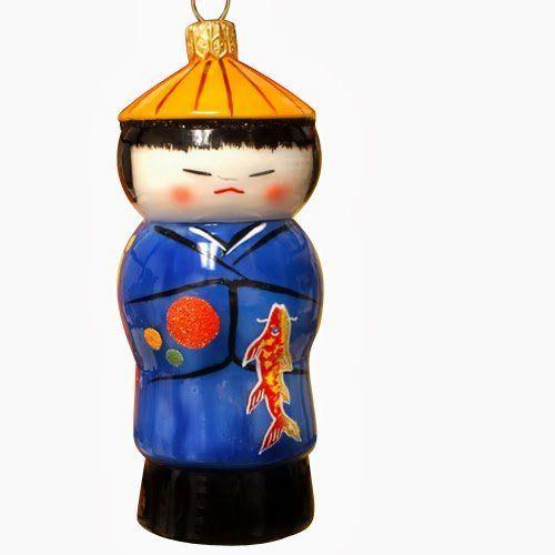 Ornaments to Remember: KOKESHI DOLL Christmas Ornament (Boy) Ornaments To Remember