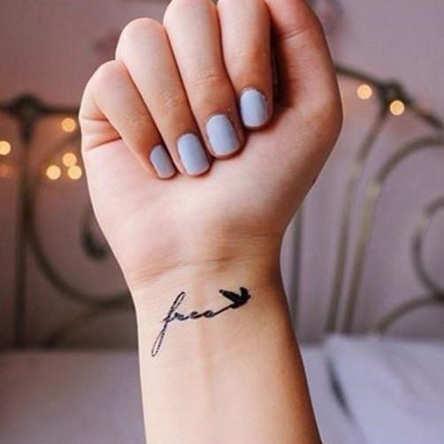 Free Like Bird Free Tattoo Wrist Tattoos For Women Small Tattoos