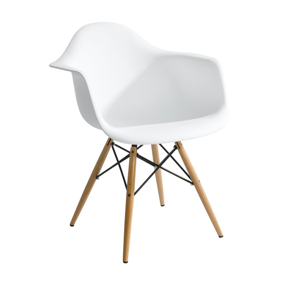 Molded Plastic Eames Chair Knockoff With Arms 105 For Two