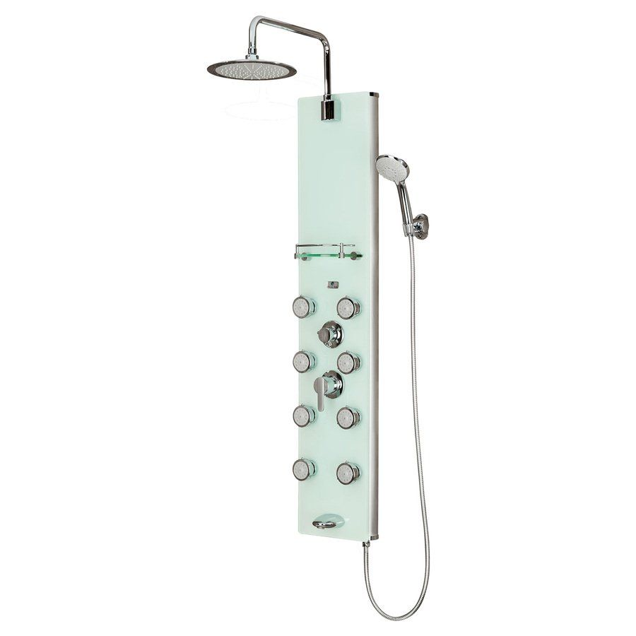 rain shower head canada. PULSE Soft Coral White Vertical Shower System With Rain Showerhead  549 99 At Lowes Comes On Sale For 399