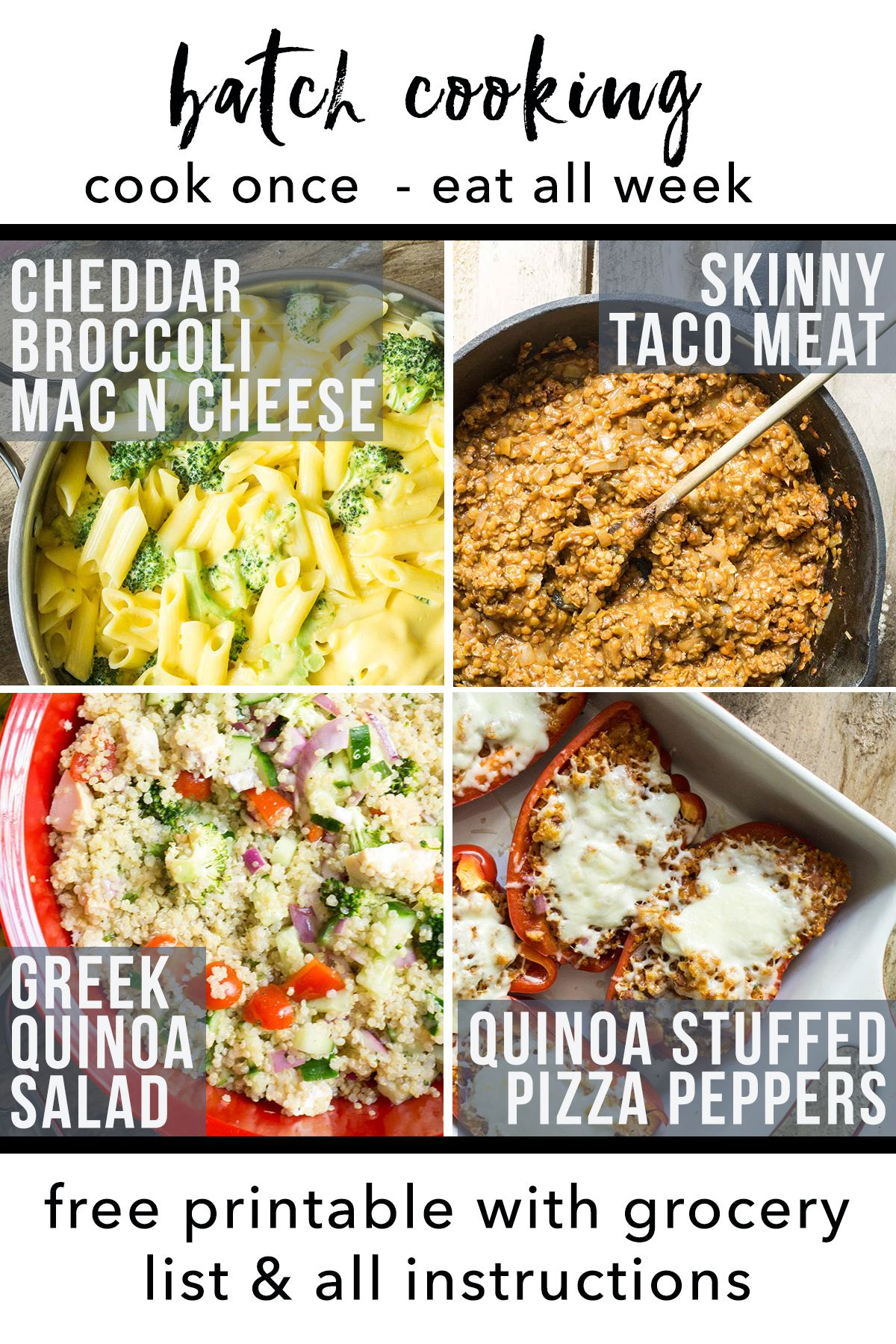 Cook Once, Eat All Week: Quinoa Recipes