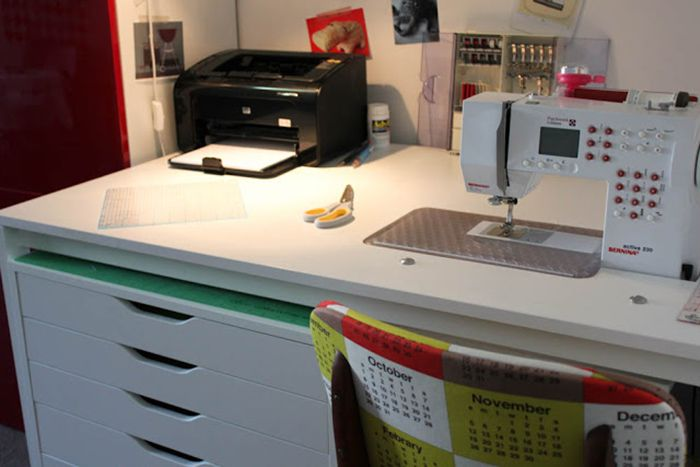 Sewing Machine Table Ikea.Diy Sewing Table Ikea Hack Sewing Craft Room Organizing