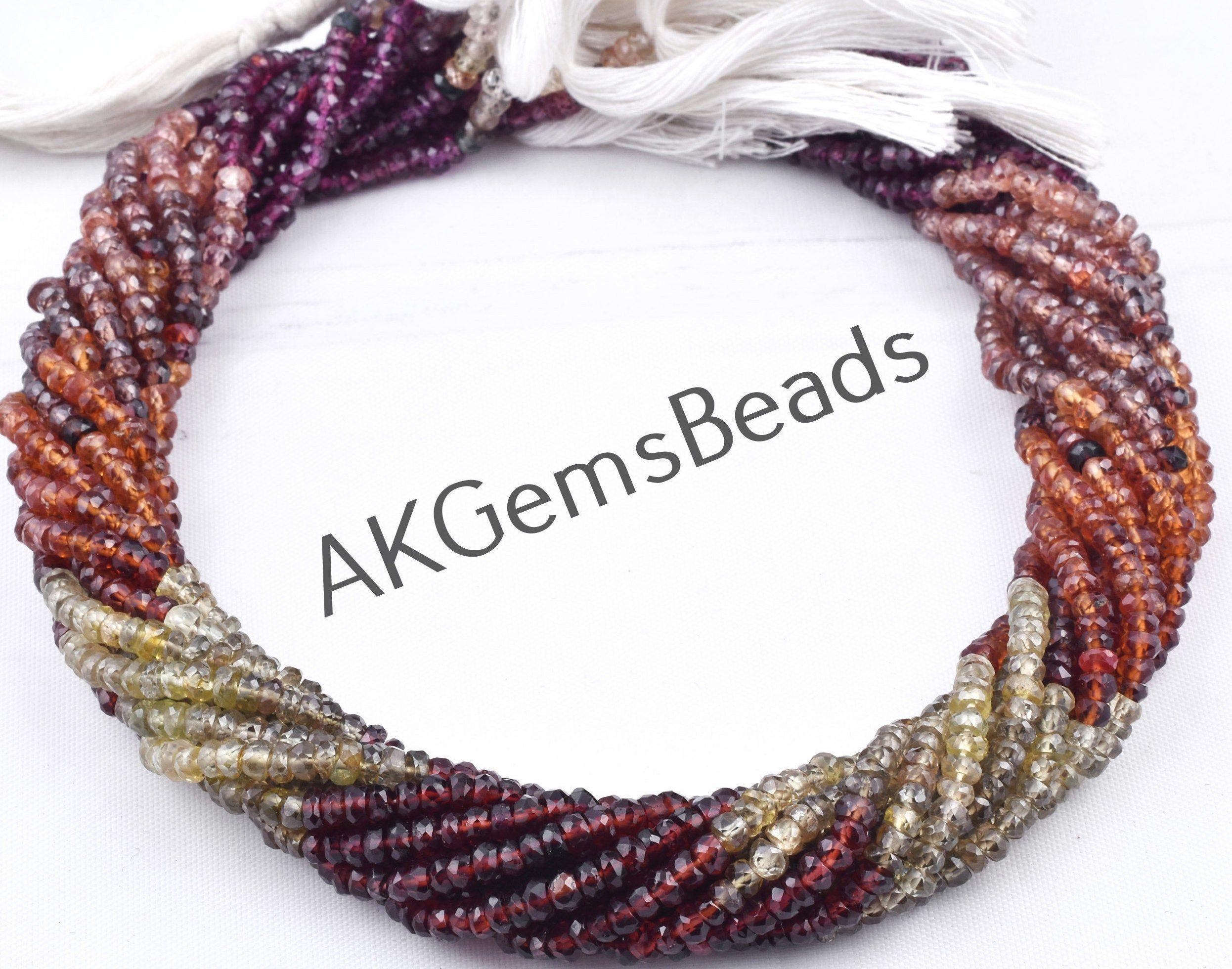 Loose Bead 13 Inch Strand Stone Bead AAA+ Quality Natural Bead Garnet Beads Strand Rondelle Bead 2-4 mm Bead Gemstone Bead