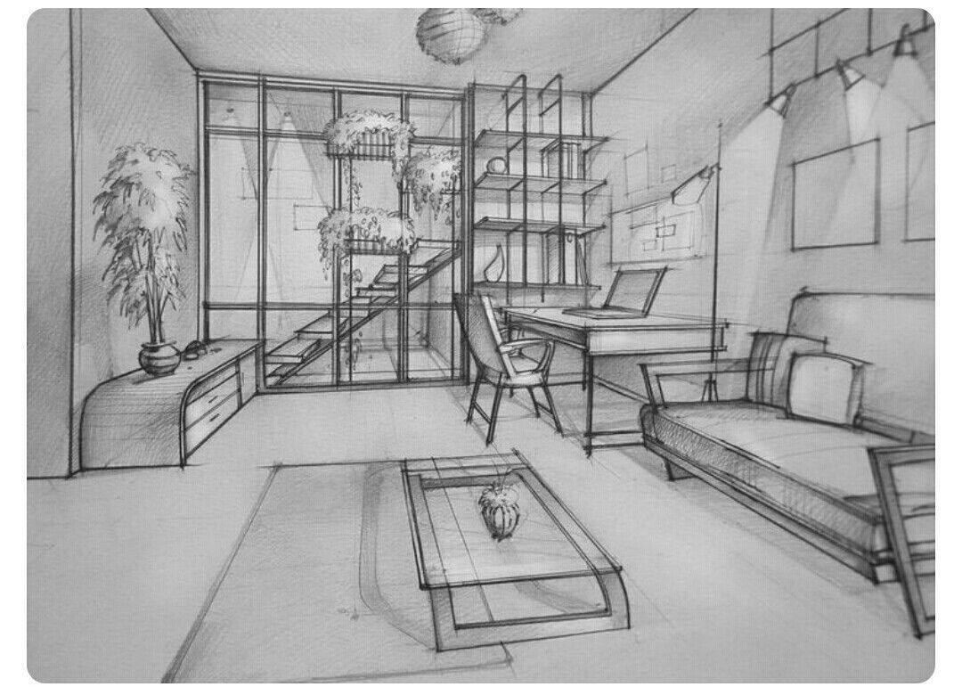Pin By Vahid Ramandi On Architecture Drawing Interior Design
