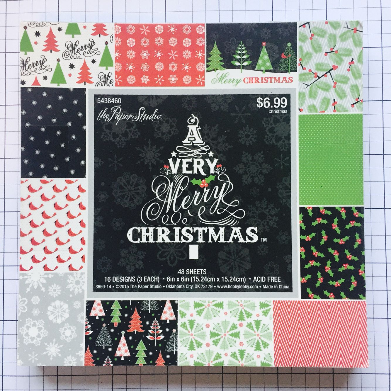Paper Studio A Very Merry Christmas 6x6 cardstock pad