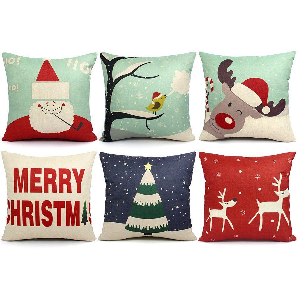 Decorative Christmas Pillows Sofa | www.indiepedia.org
