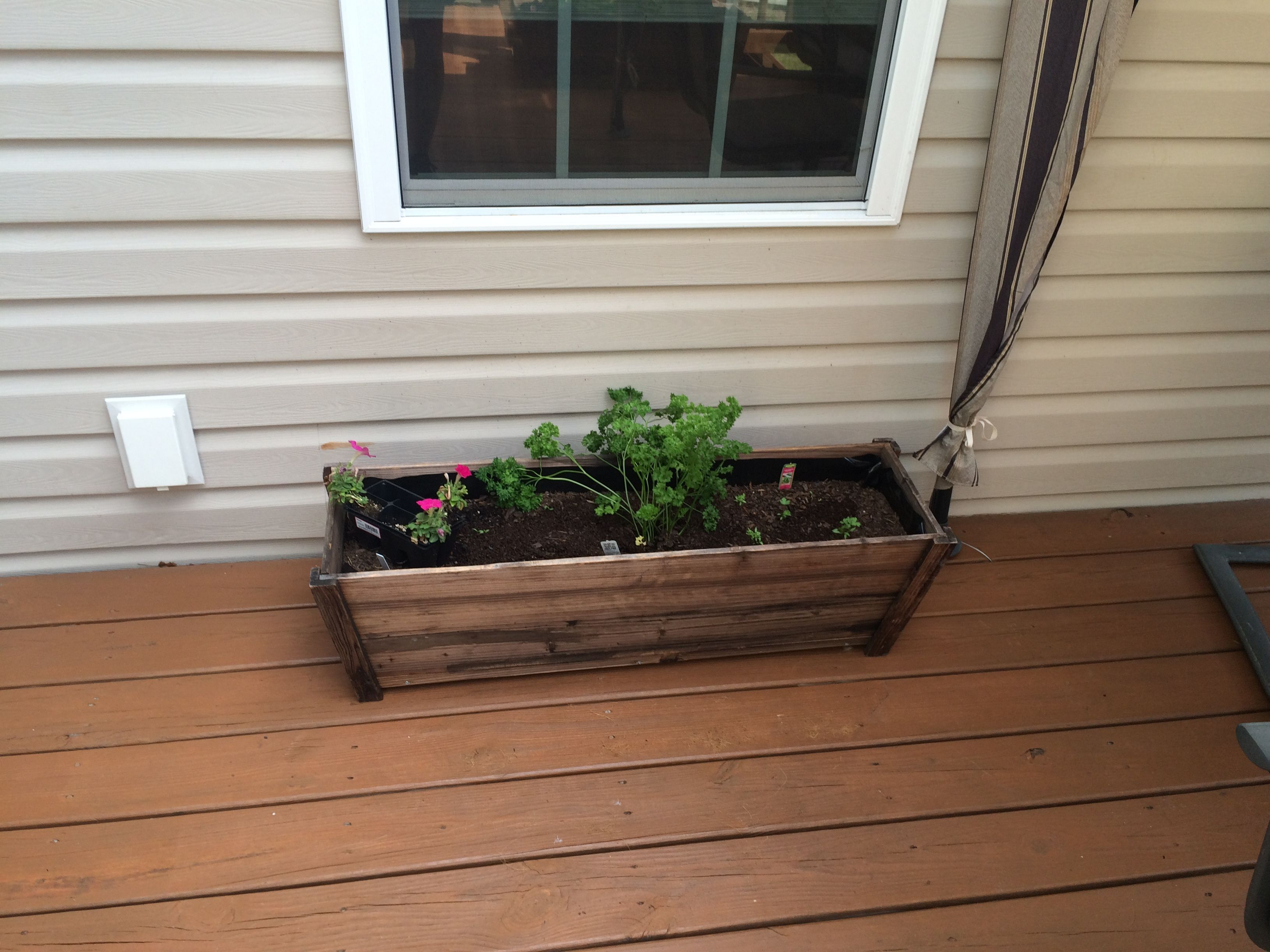 things after portfolio finer planters fall garden andbenches home and deck cedar planter benches
