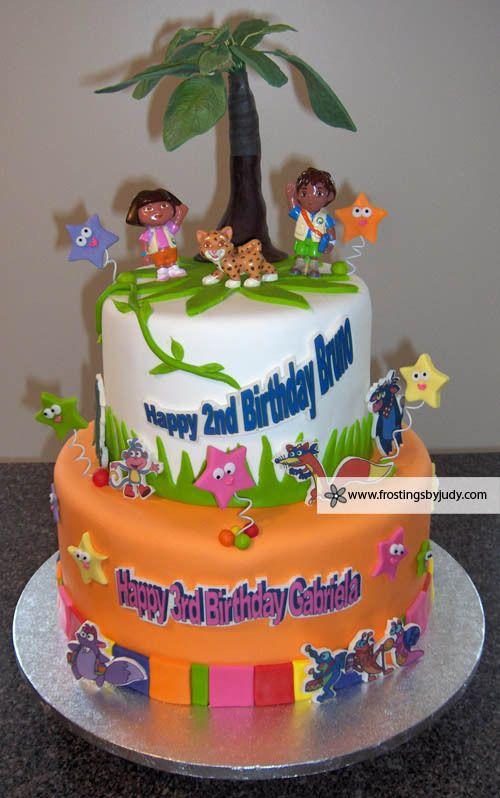 Pleasant Dora Diego Birthday Cake 1 With Images Cake Kids Cake Personalised Birthday Cards Epsylily Jamesorg