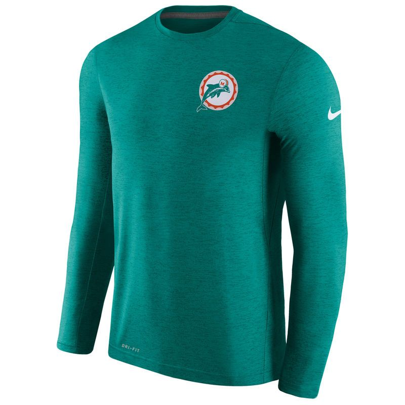 Men's Nike Aqua Miami Dolphins Sideline