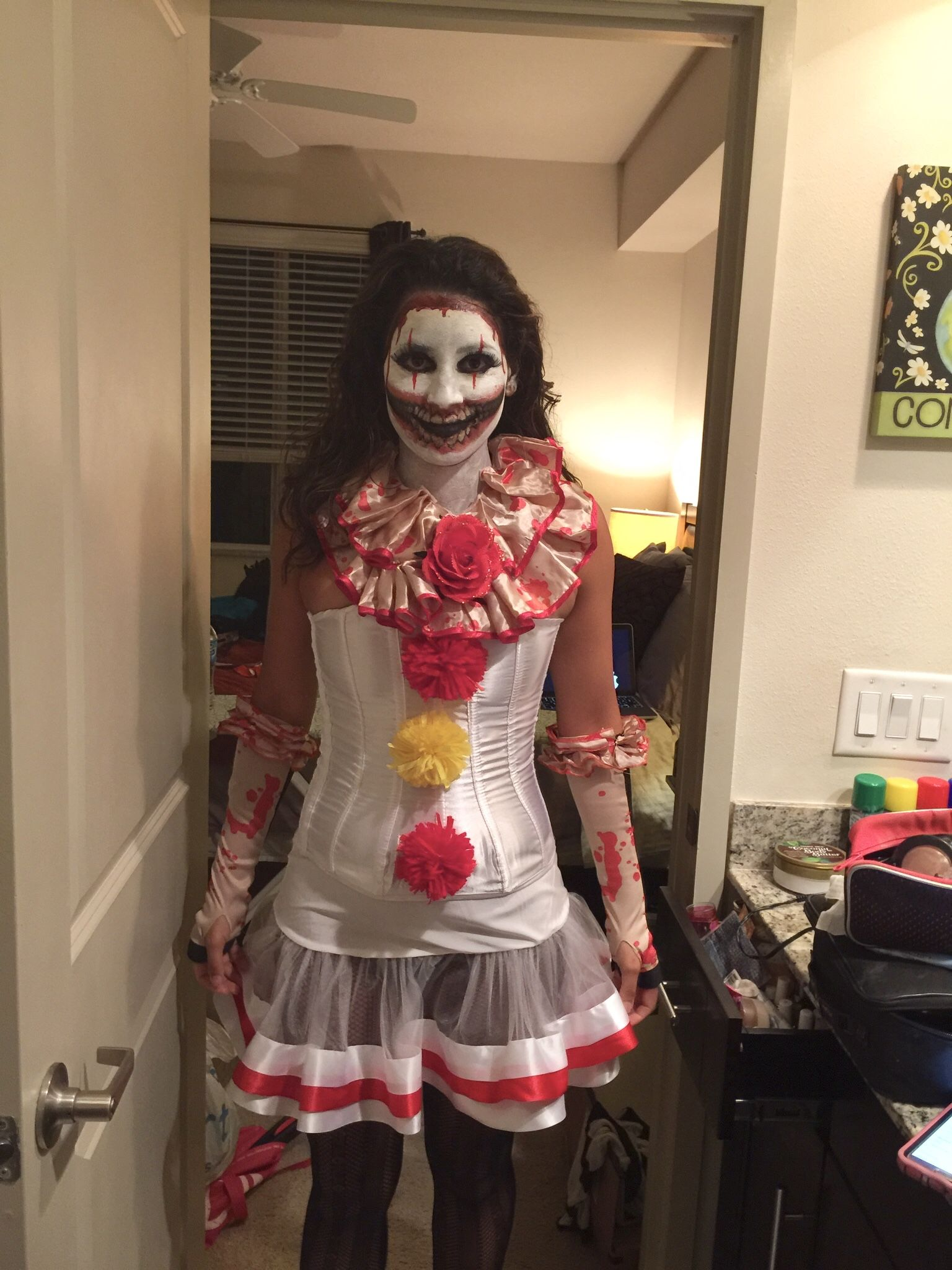 Halloween Clown Girl Outfit.Ahs Twisty The Clown Girl Version Home Made