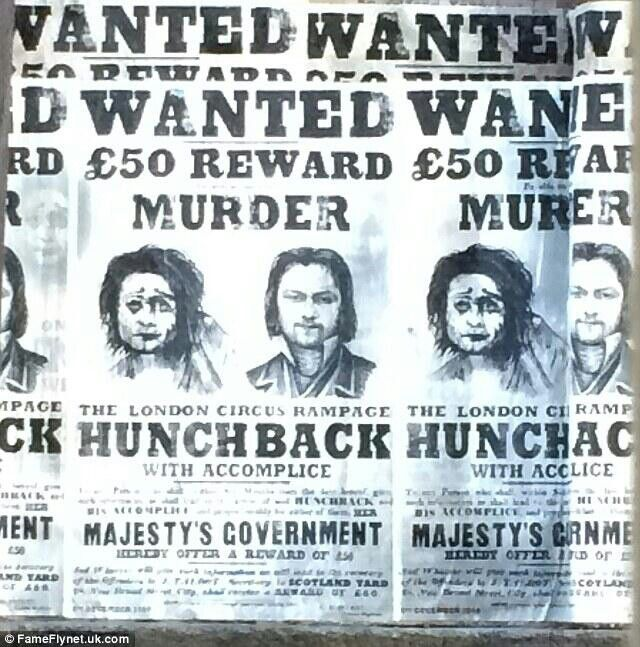 Frankenstein Wanted Poster Daniel Radcliffe Mary Shelley