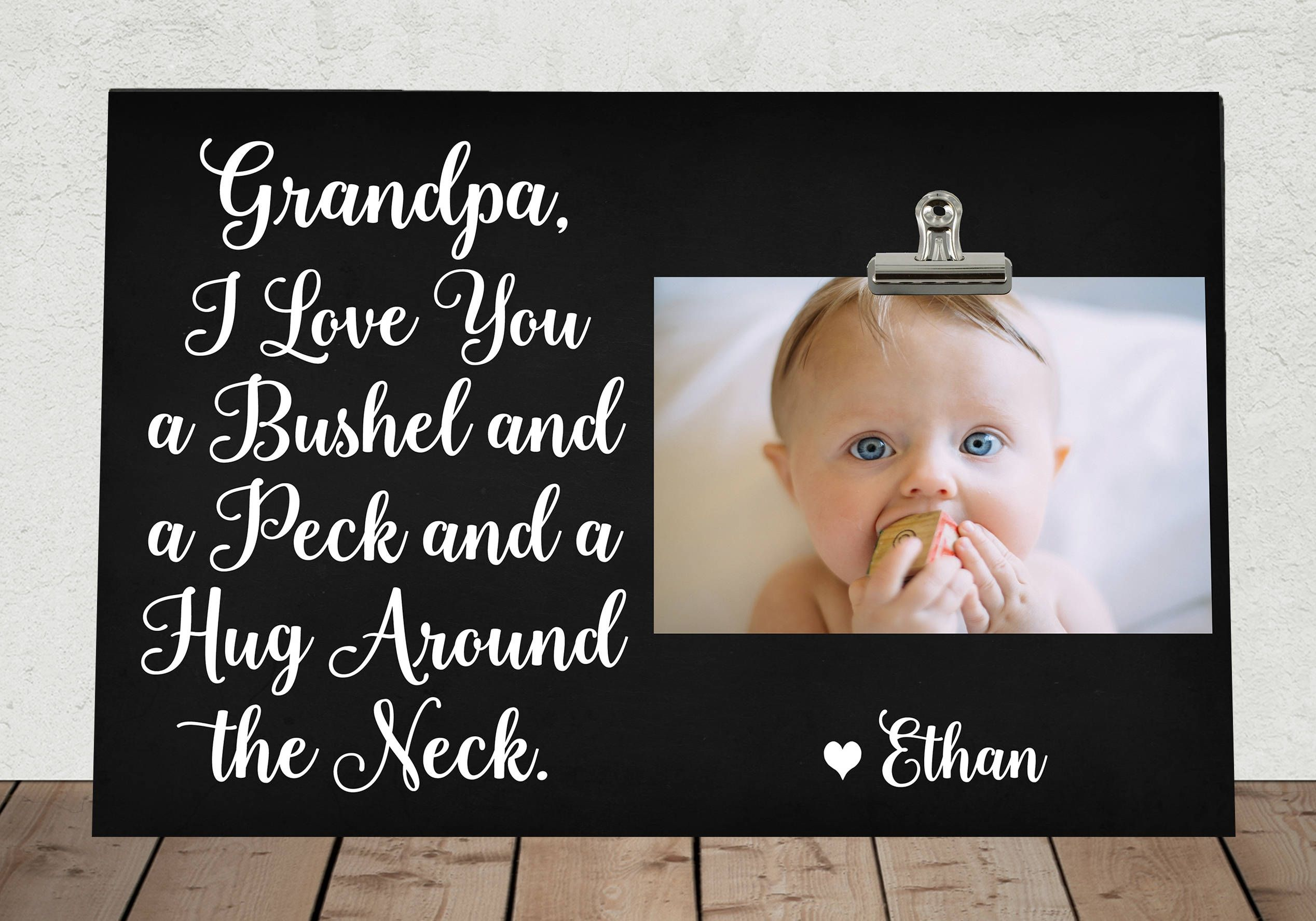 FATHERS Day Gift for GRANDPA, Personalized Free, I Love You a Bushel ...