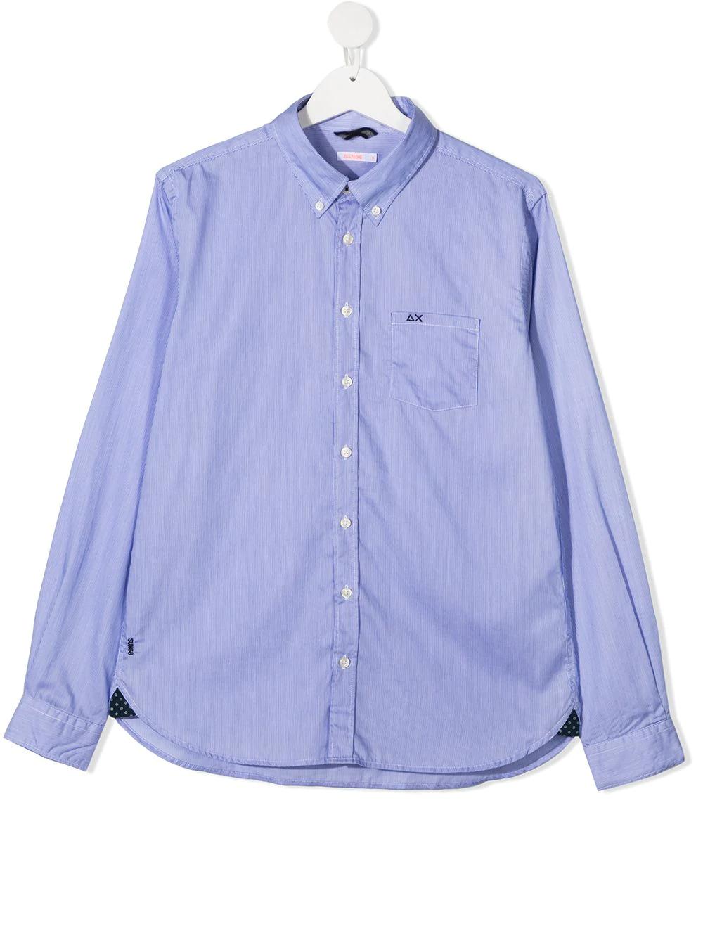 Sun 68 Kids Camisa Con Botones Farfetch Camisas De Botones Ropa De Hombre Mangas Largas