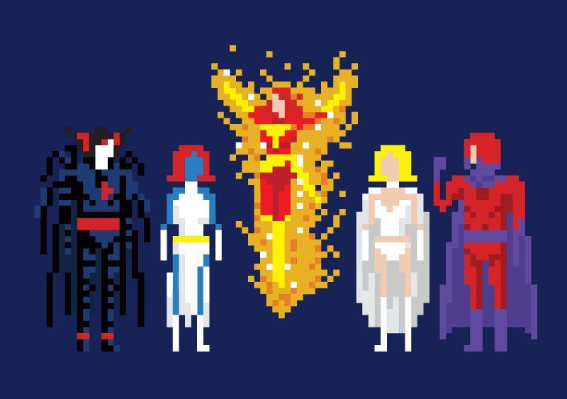 8 bit X Men Villains by Rob at WeLoveFine