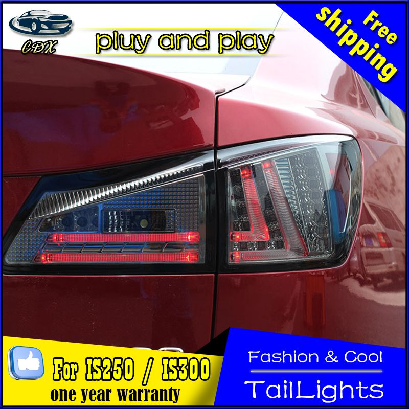 Car Styling For Lexus Is250 Led Taillights 2006 2012 Is300 Tail Lamp Rear Lamp Drl Brake Park Signal Led Lights Lexus Is250 Lexus Car