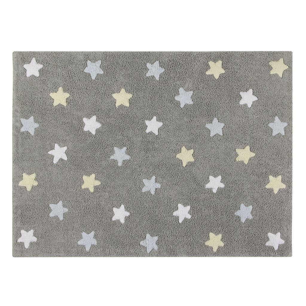 Alfombra Lorena Canals Outlet Tricolor Stars Rug In Grey Blue Design By Lorena Canals In 2019