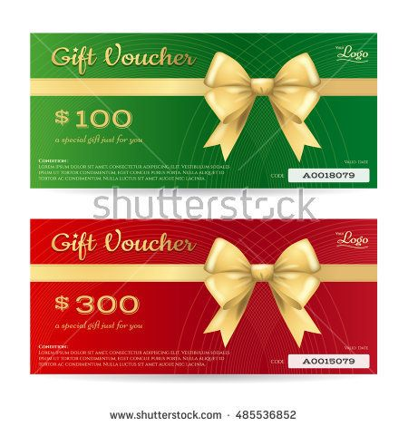 Elegant christmas gift card or gift voucher template with shiny - christmas gift vouchers templates