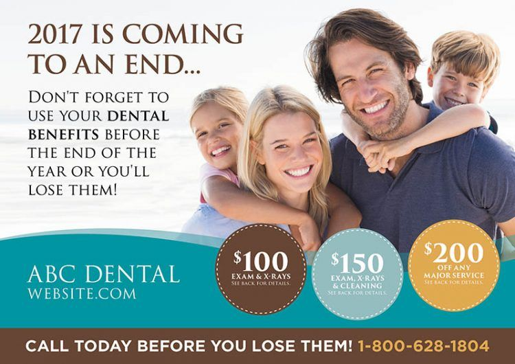 Dental Benefits Reminder Postcard Dental Postcard Design Template For Dentist Dental Insurance Plans Dental Insurance Dentist Advertising