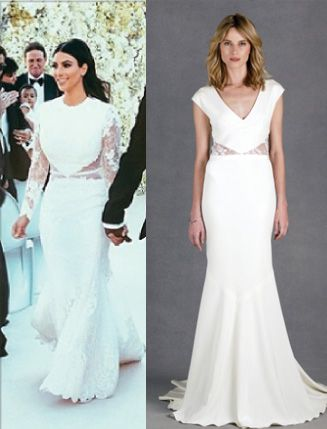 Get Kim Kardashian\'s look in the Kimberly bridal gown #nicolemiller ...