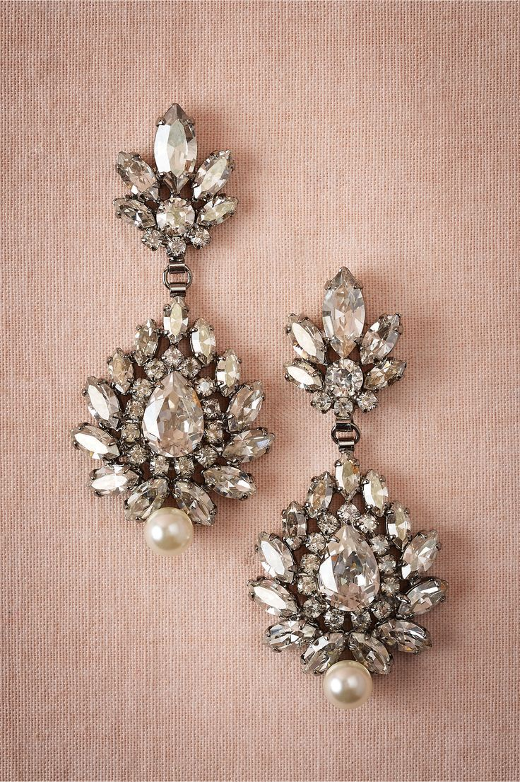 Blush pink and gorgeous gray art deco met and modern wedding earrings diana chandeliers at bhldn arubaitofo Images