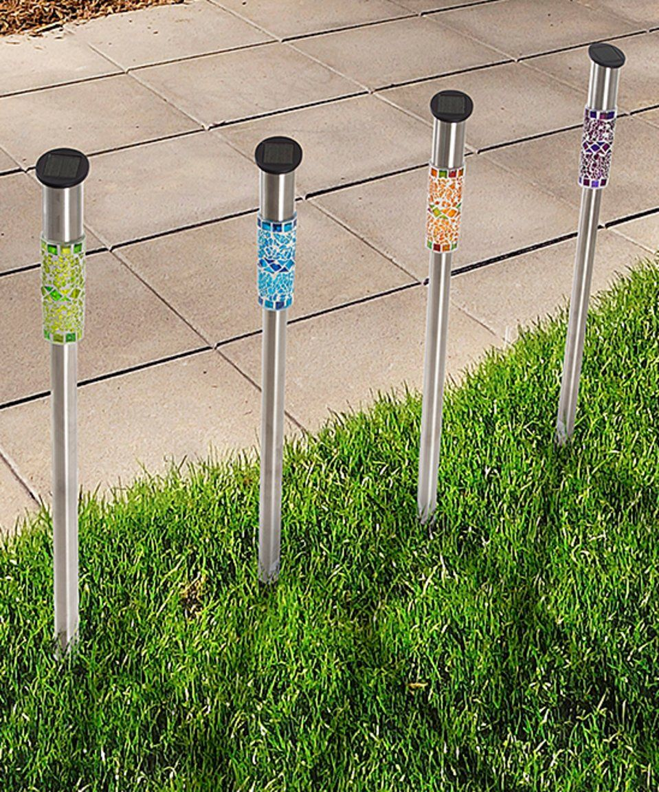 Take A Look At This Cylinder Solar Mosaic Led Garden Stake Lights Today Led Outdoor Lighting Pure Garden Solar Lights Garden