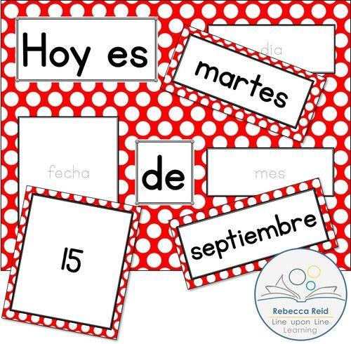 Spanish Basics Spanish Alphabet And Spanish Calendar Chart