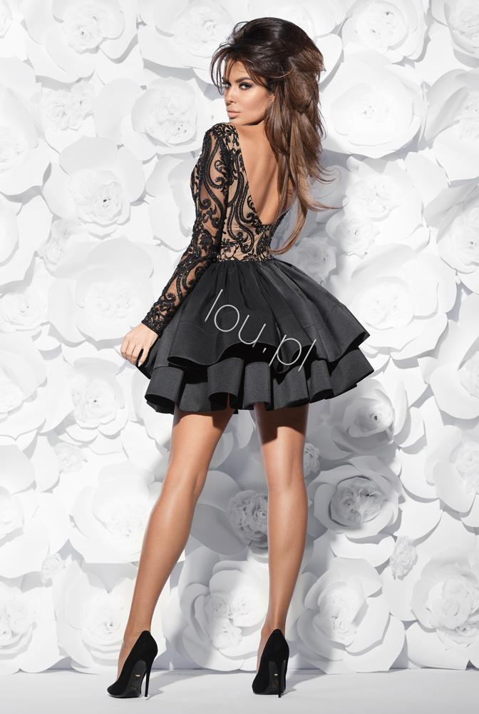 Alessia Czarna Sukienka Z Ekskluzywnym Haftem Fashion Style Dresses