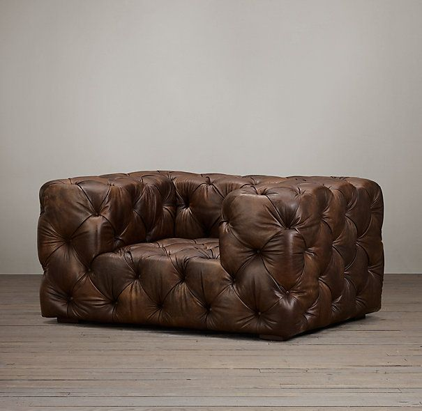 Soho Tufted Leather Chair Interieur Meubels Sofa S