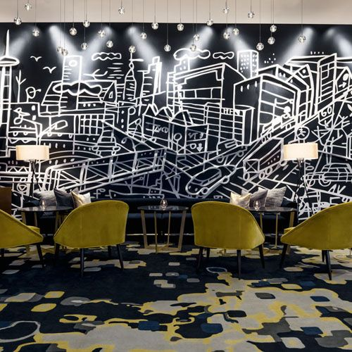 thompson toronto hotel lobby bar design is award people s choice