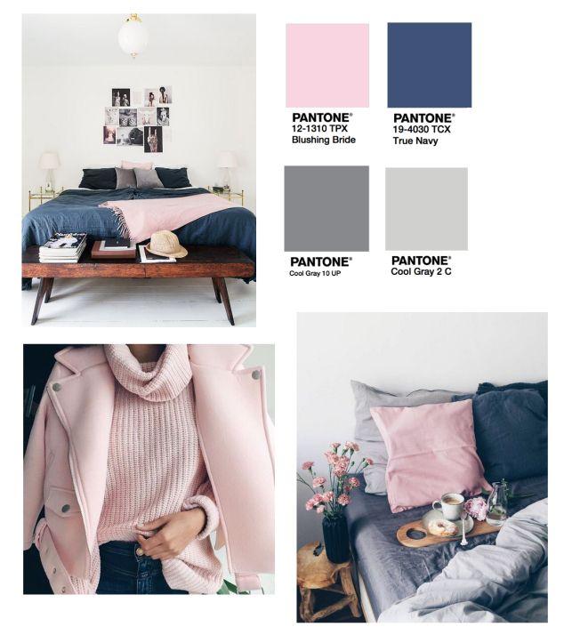 Blush Tones + Grey And Navy