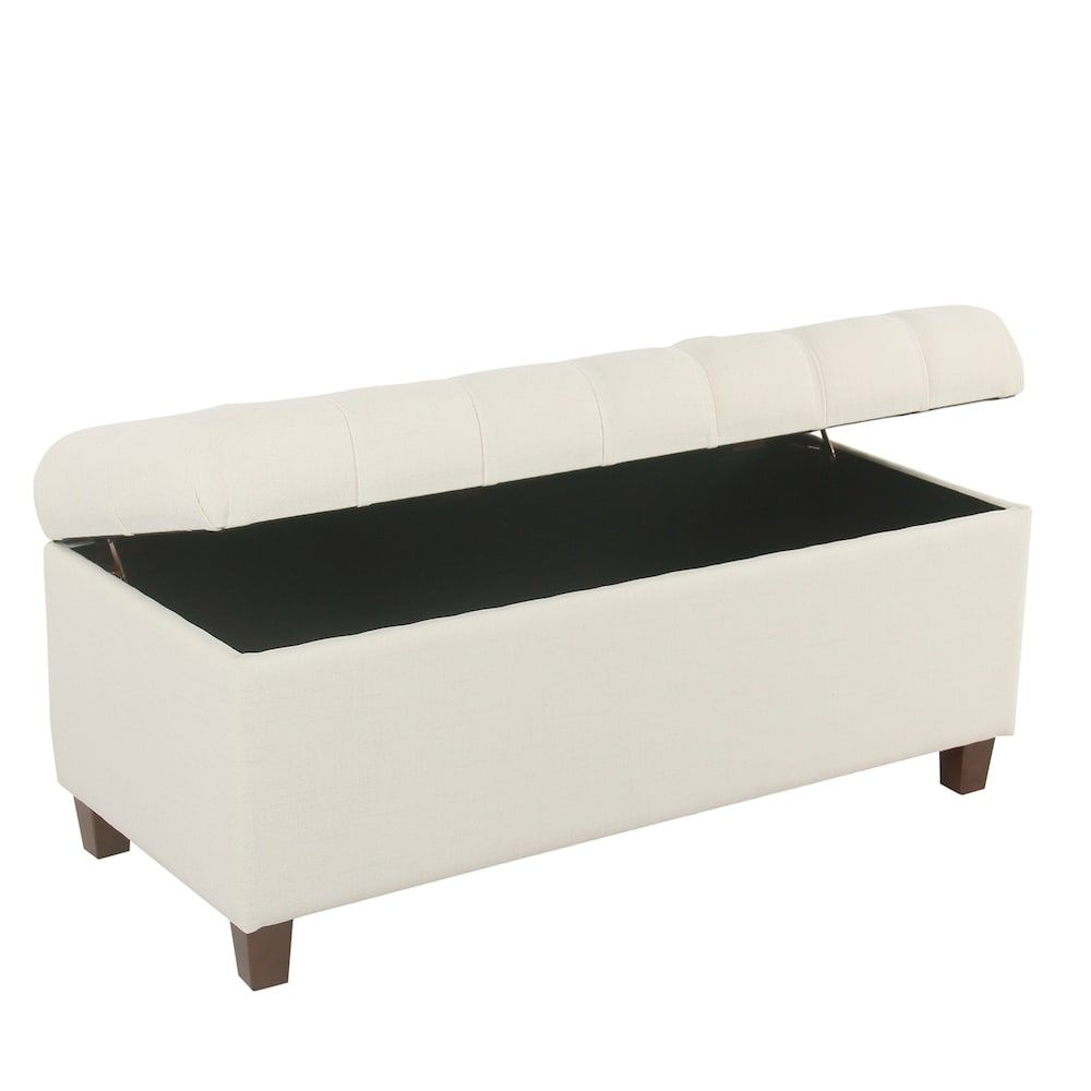 Excellent Homepop Ainsley Tufted Storage Ottoman Bench Beig Green In Andrewgaddart Wooden Chair Designs For Living Room Andrewgaddartcom