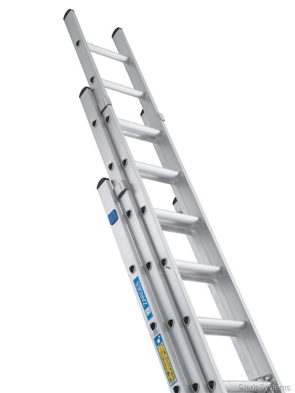 171 38 Industrial Triple Ladder Zarges High Quality Triple Extension Ladders With D Shaped Rungs For Comfort And Ease Of Use Thes Ladder Industrial Tripled