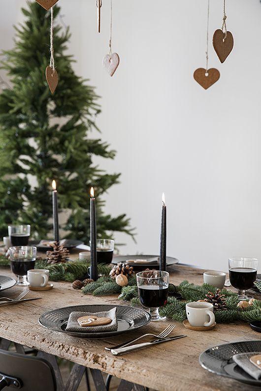 3 X Dukningstips Glöggfest Trendenser Rustik Jul Juldukningar Skandinavisk Jul