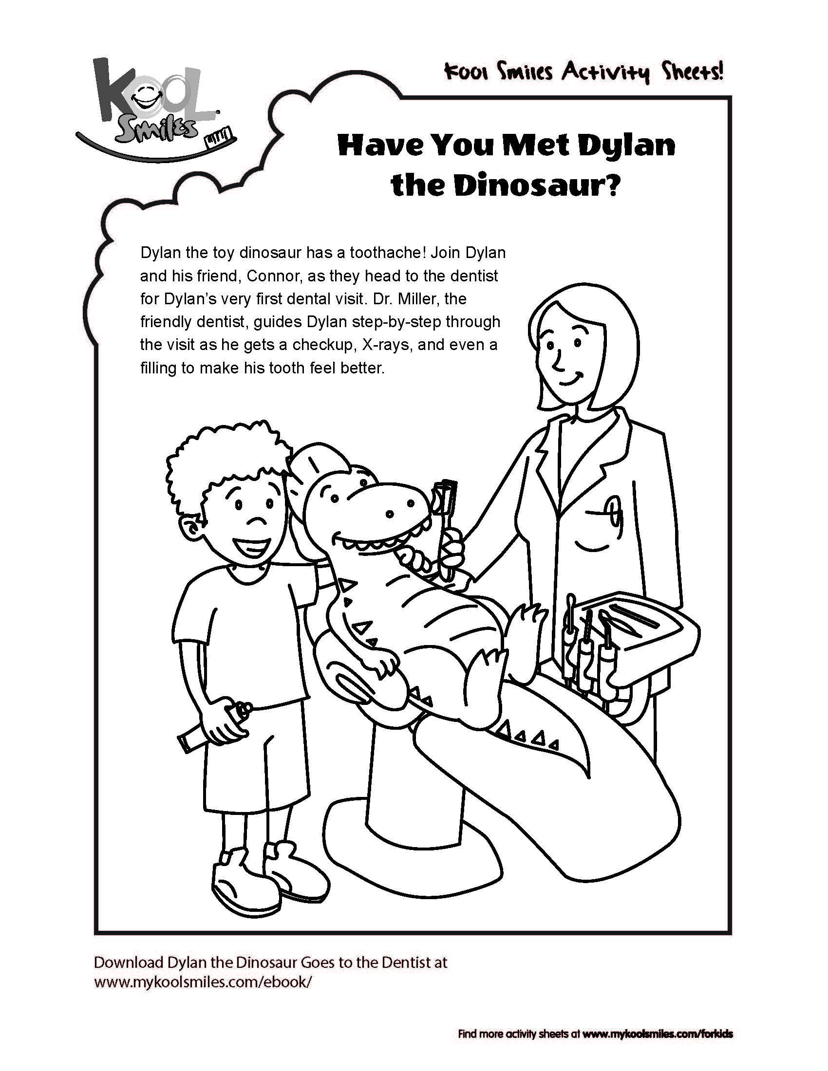 We Have A New Activity Sheet About Dylan The Dinosaur The Main Character Of Our Ebook