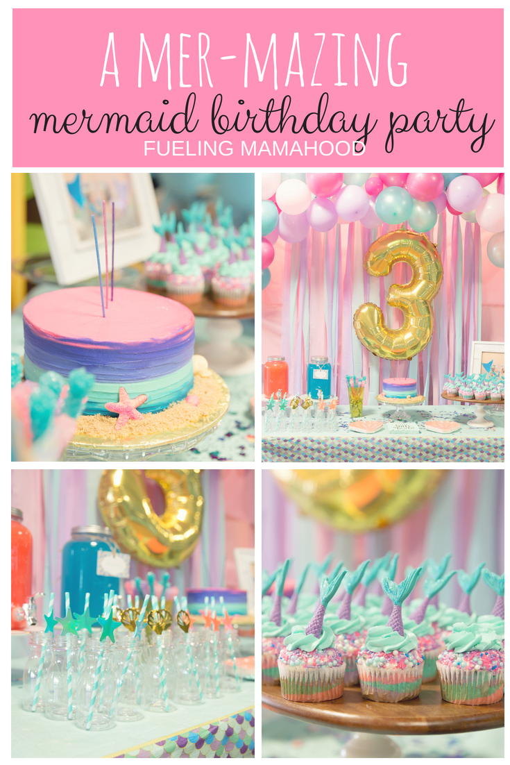 Mermaid Birthday Party Ideas Twin 3 Year Old Girl Birthday 3rd Birthday Party For Girls Third Birthday Girl Girls Birthday Party Themes