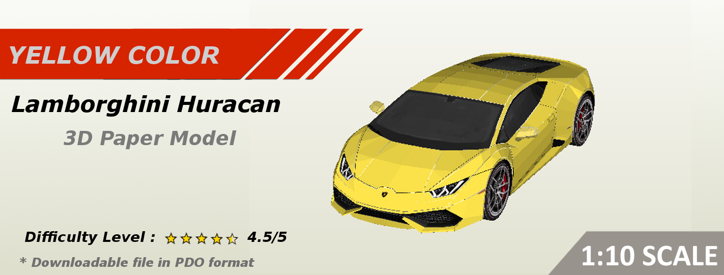 Best PaperCraft Car Template : Huracan 3D Paper Models