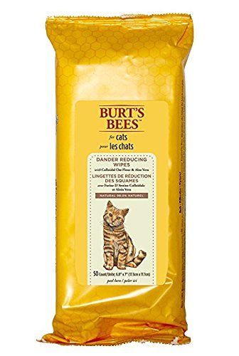 Burts Bees For Cats Dander Reducing Grooming Wipes With Colloidal Oat Flour And Aloe Vera 50 Wipes You Can Find More Details Bee Dog Dog Grooming Cat Dander