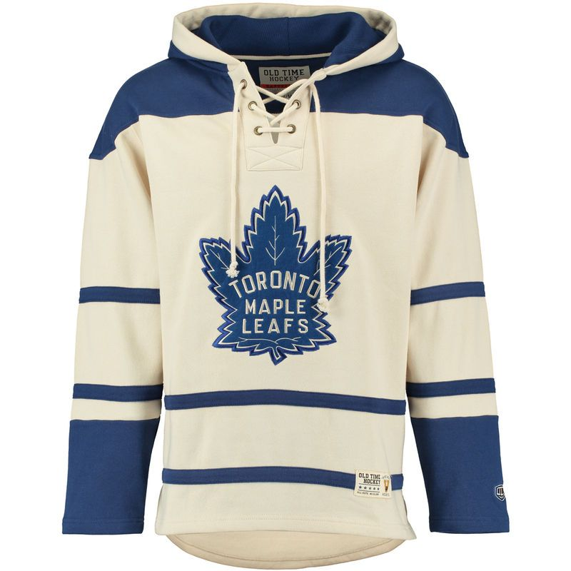 905838e3acb Toronto Maple Leafs Old Time Hockey Lacer Heavyweight Pullover Hoodie -  Natural