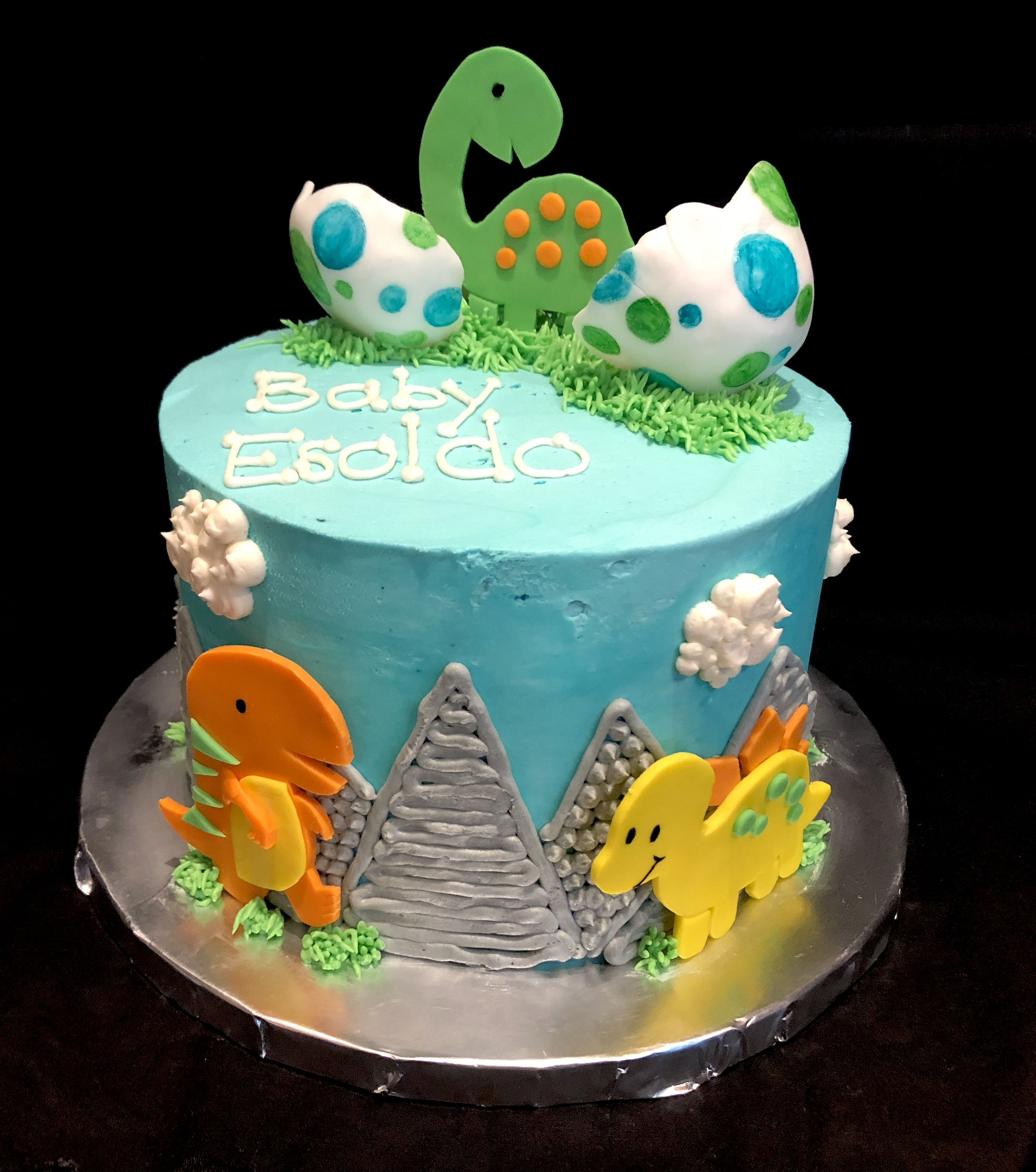 Dinosaur Baby Shower Cake With Images Dinosaur Baby Shower