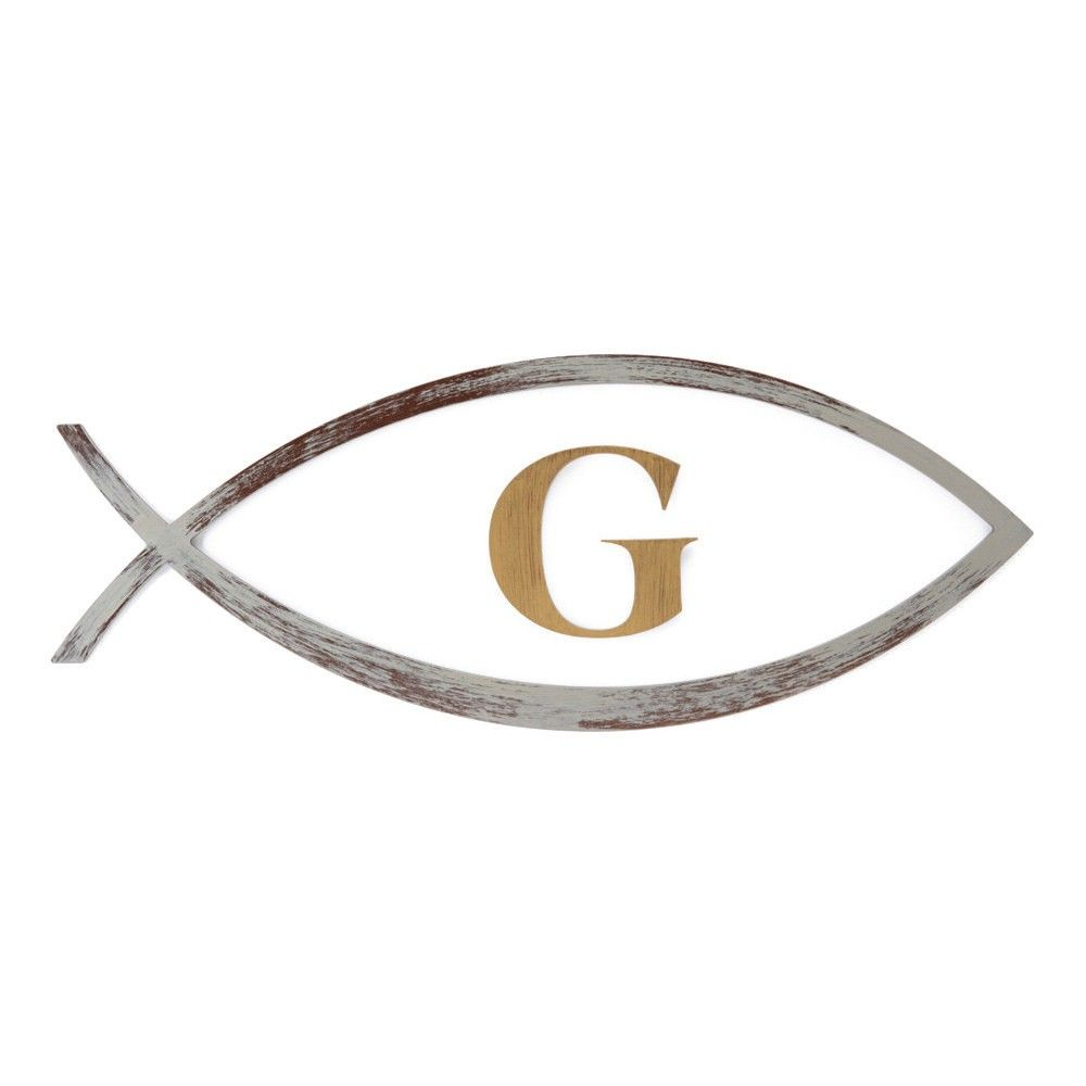 Brushed Nickel Letters For Wall Amazing Letter2Word Hand Painted Letter G In Ichthys Fish 3D Wall Review